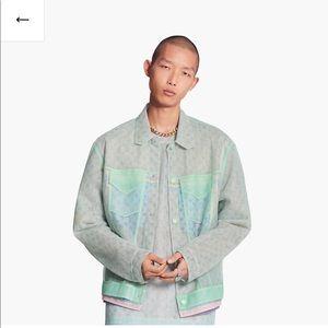 LOUIS VUITTON multicolor tulle denim jacket